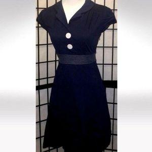🎀NWOT Ruby Rox Pinup Vintage Navy Blue Dress